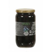 Olívabogyó fekete magozott 800/400g ''Mazza''