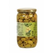 Olívabogyó zöld magozott 800/400g ''Mazza''