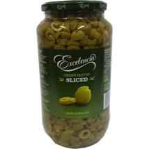 Olívabogyó zöld szeletelt 935/450g ''Excelencia''